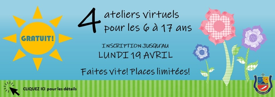 Ateliers virtuels printemps